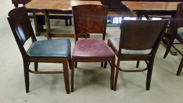 Secondhand Traditional leather set chairs