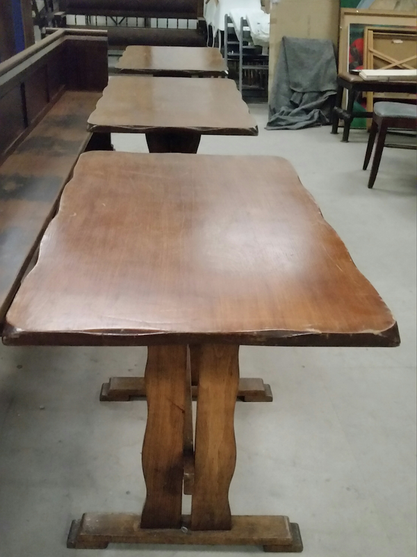 Used refractory style tables
