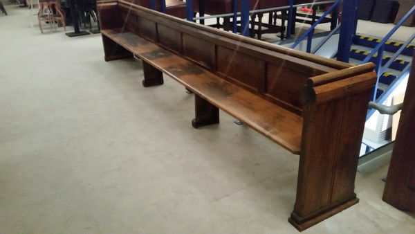 Used traditional oak pew for sale
