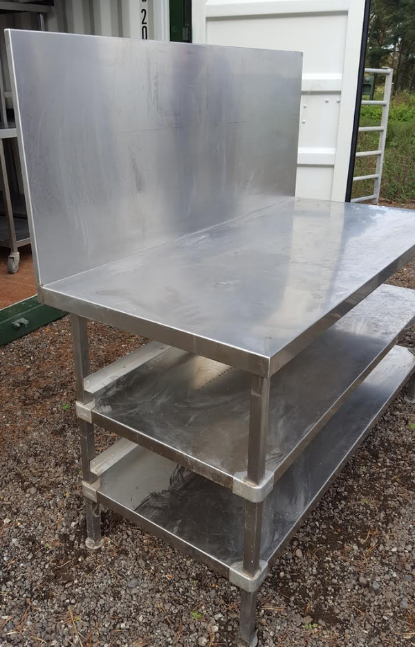 Steel bakery prep table