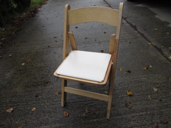Used wooden folding chair