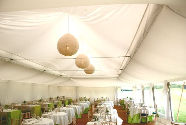 Ivory lining wedding marquee for sale