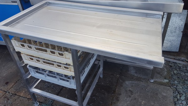 Stainless Side Table For Pass Through Dishwasher