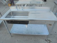 Single steel sink