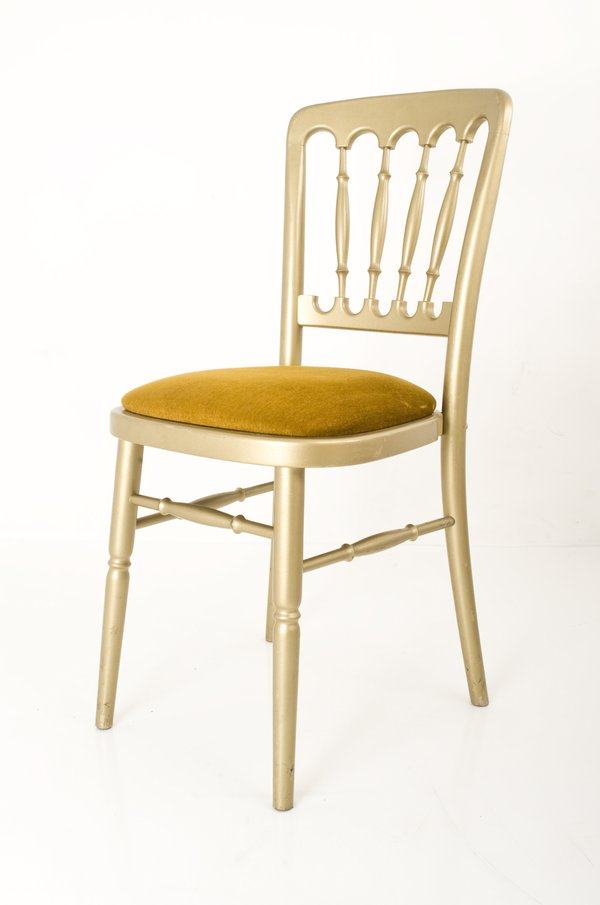 Gold Cheltenham (Spindle Back) Chairs With Gold Seat Pads