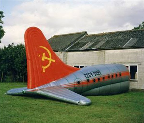 Large Inflatable Aeroplane Ex Stage Prop