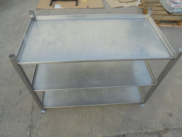 Used Stainless Steel 3 Tier Rack / Stand Draining Shelf