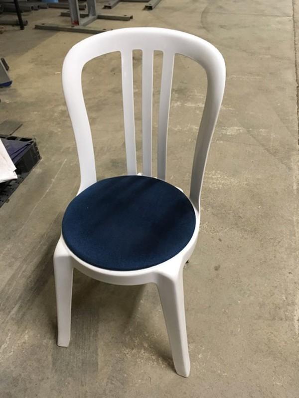White Miami Bistro chairs.