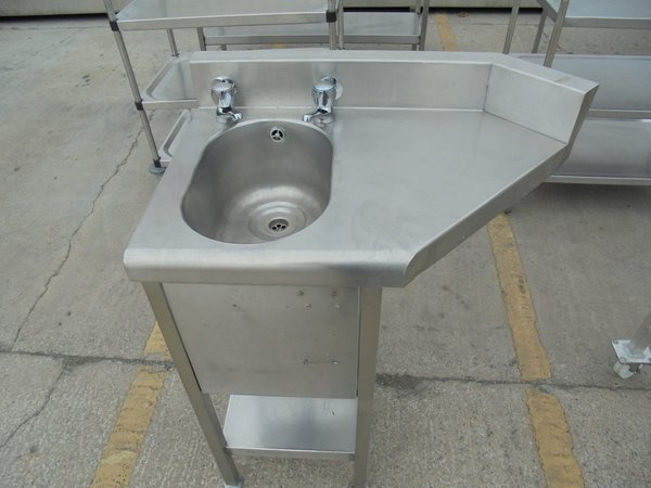 Used Stainless Steel Freestanding Hand Sink	(5845)