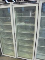 New B Grade Polar CB921 White Upright Single Glass Door Display Freezer (5865)