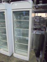 New B Grade Stirling Pro VF372 White Upright Single Glass Door Display Freezer