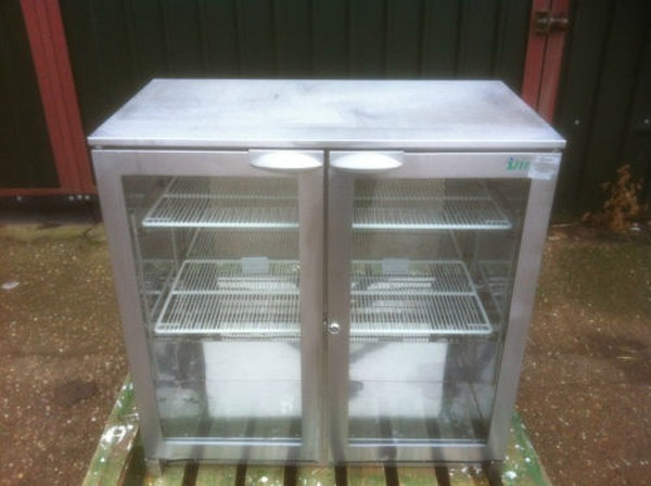 Stainless Steel Double Door Bar Fridges