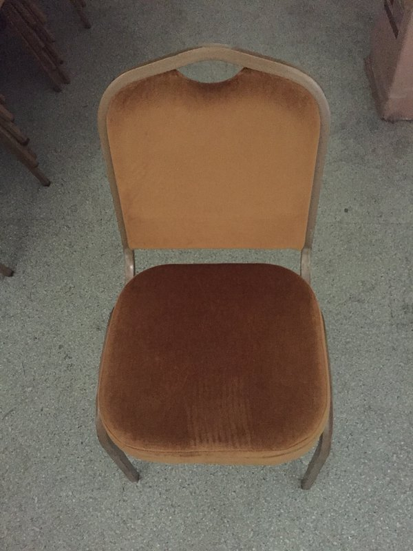 Ex-hire gold banquet chairs