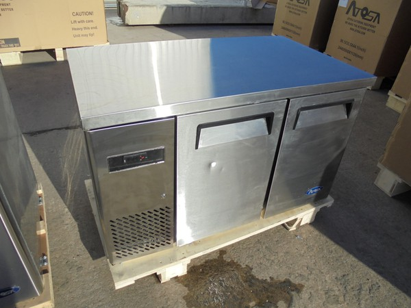 New B Grade Atosa YPF 9022 double door bench fridge