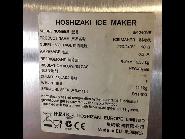 Hoshizaki IM240-NE 23 Cubed Ice-Maker