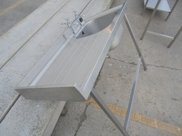 Steel single sink unit