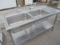 Double sink table for sale