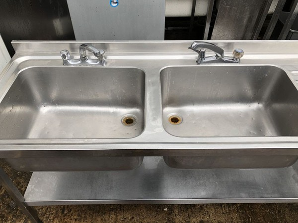 steel double sink