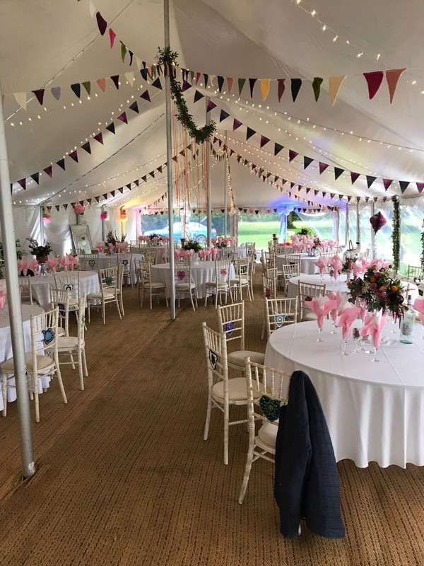 Marquee wedding bunting