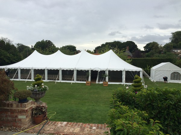 Wedding marquee with windows