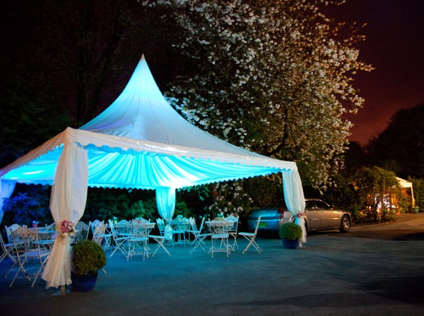 Night time canopy marquee