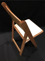 New beech folding chairs