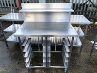 Table with backsplash for sale