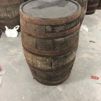 Rustic wooden barrels