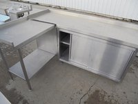 L shape steel cabinet