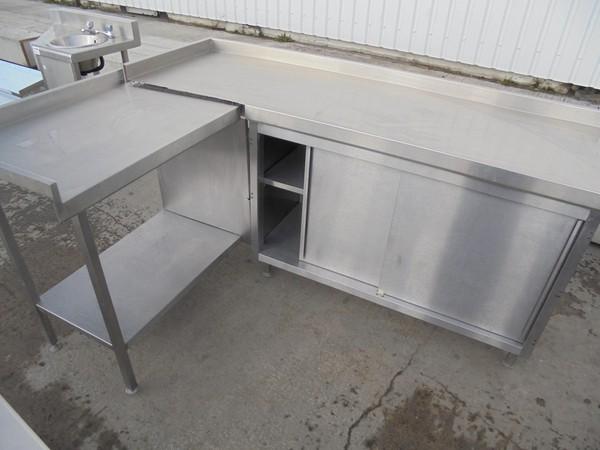 L shape steel cabinet