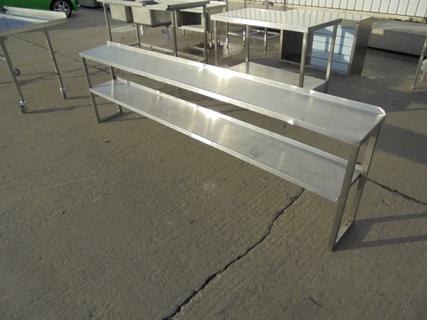 Used Stainless Steel Double Gantry Shelf	(5978)