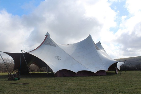 Double skinned marquee Wales