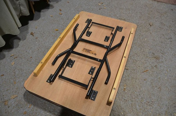 Secondhand trestle table