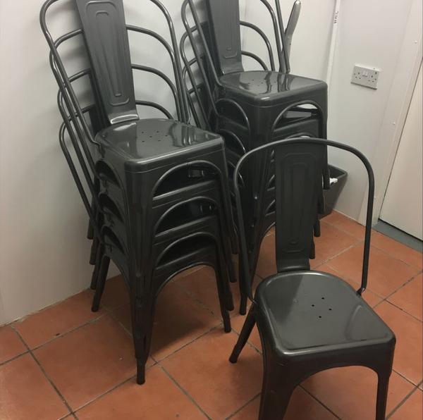 Gunmetal chairs