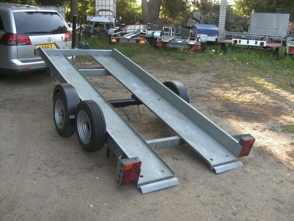 Transporter Trailer Hydraulic Tiltbed Galvanised and Braked Very Rare