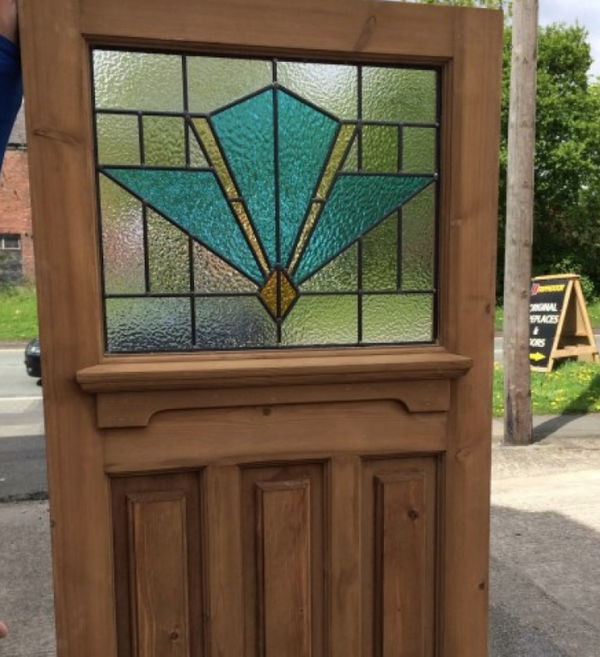 Stained Glass Door for sale