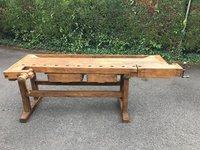 Vintage Oak Workbench