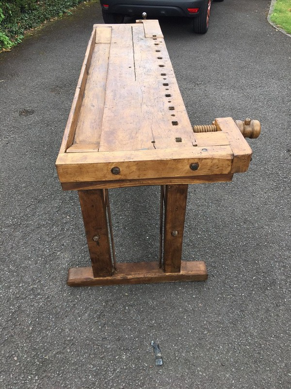 Oak Carpenters workbench reclaimed