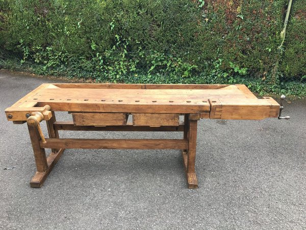 Vintage Oak Workbench