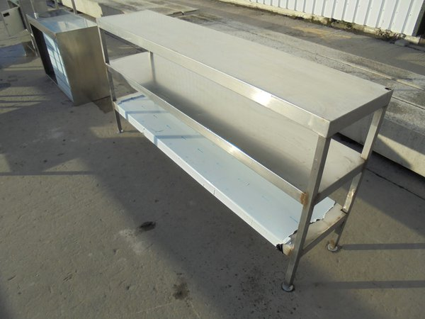 Used Stainless Steel Narrow Table (5980)