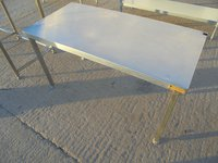 Used Stainless Steel Low Table / Stand (5993)