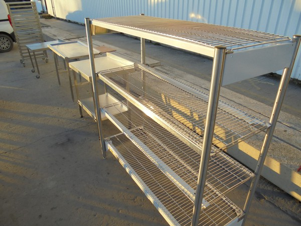 Used Stainless Steel 4 Tier Rack	(5996)