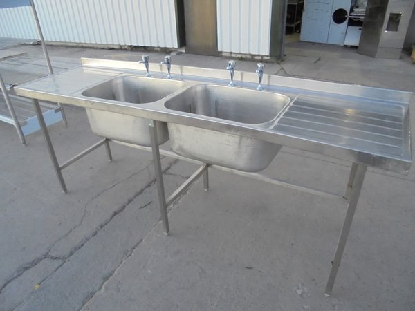 Used Stainless Steel Double Bowl Sink (5997)