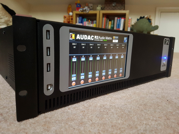Audac R2 8x8 Multi-zone Digital Audio Matrix Amplifier with Ethernet