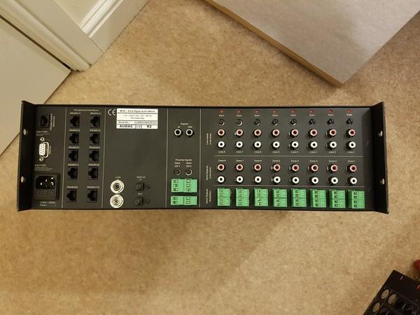 Audac R2 8x8 Multi-zone Digital Audio Matrix Amplifier with Ethernet Connectivity