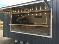 brand new wood fired pizza trailer