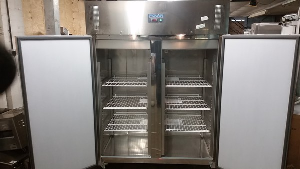 Double stainless steel catering fridge