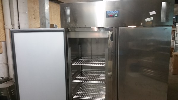 secondhand commercial double door fridge