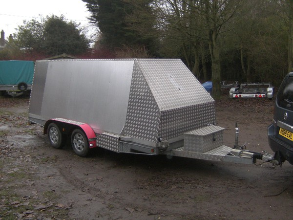 2012 Unique 14Ft Alloy Transporter 2600Kg Shuttle / Box Trailer