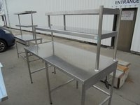 Used Victor Stainless Steel Table + 2 Gantry Shelves, 1 Heated (6002)